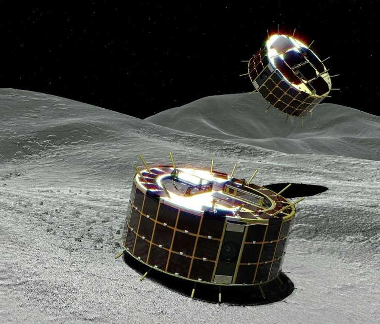 A pair of robot rovers have landed on an asteroid and begun a survey, Japan's space agency said Saturday, as it conducts a mission aiming to shed light on the origins of the solar system.
