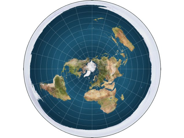 What would happen if the earth were actually flat how some flat earthers map out the planet the arctic is at the center and an ice wall around the edges supposedly prevents people from falling off gumiabroncs Images