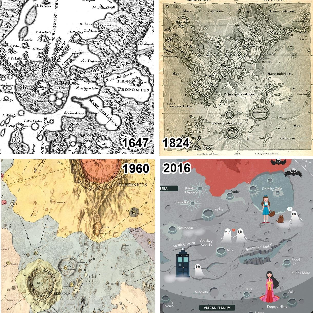 Catalogue of planetary maps highlights the evolving view of the ...