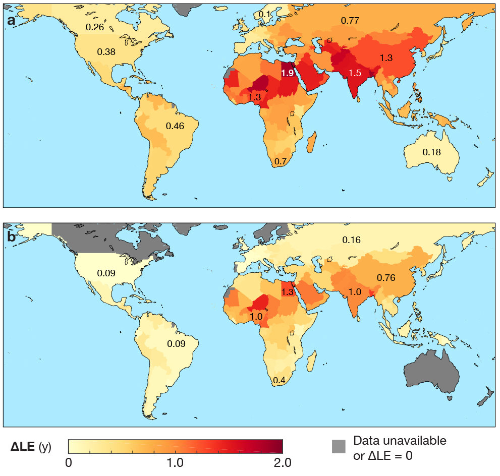 air pollution reduces global life expectancy by more than one year