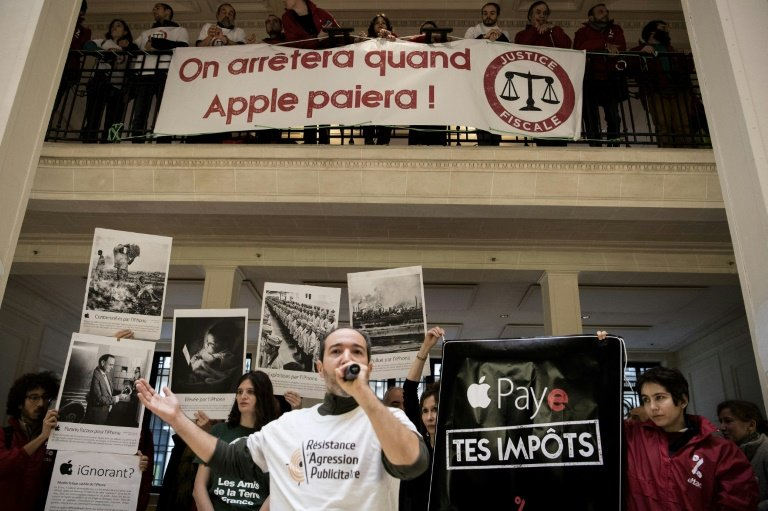 Apple loses bid to ban protests by French tax campaign group