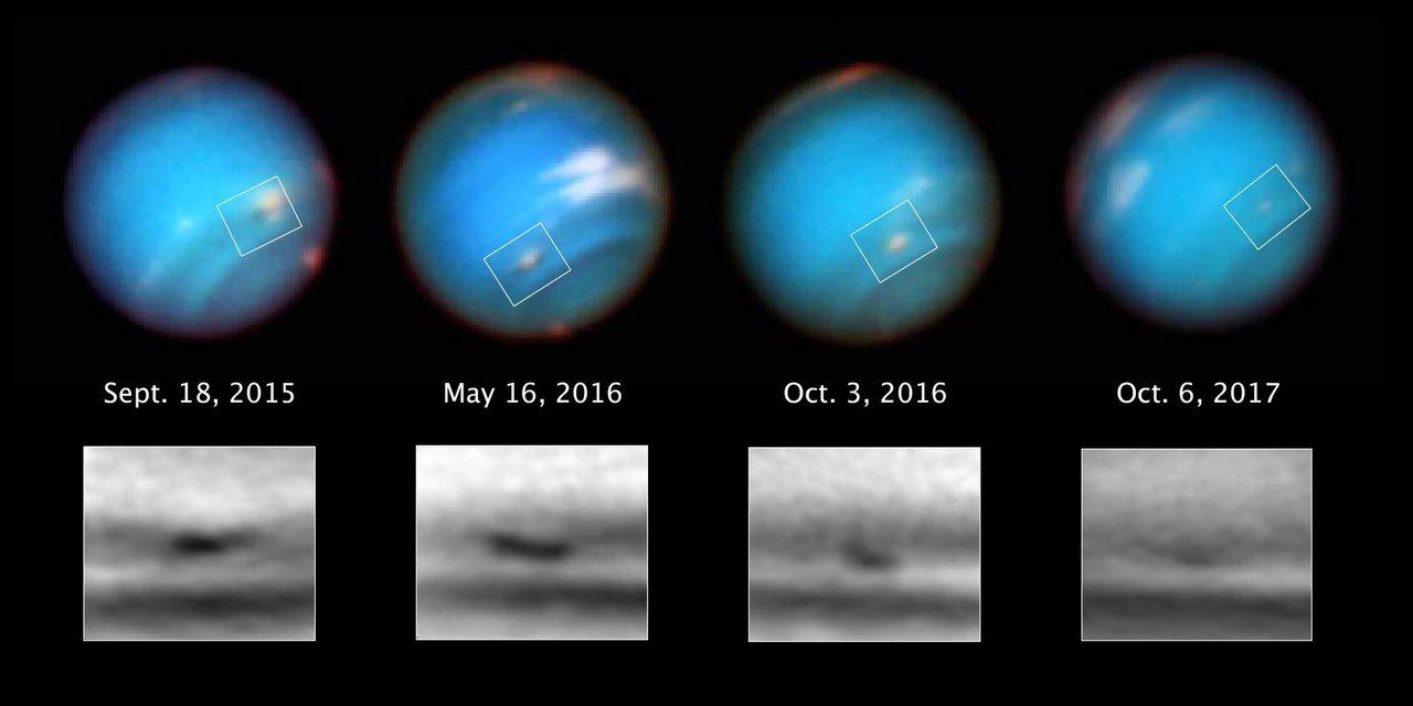 Neptun, bouře v atmosféře