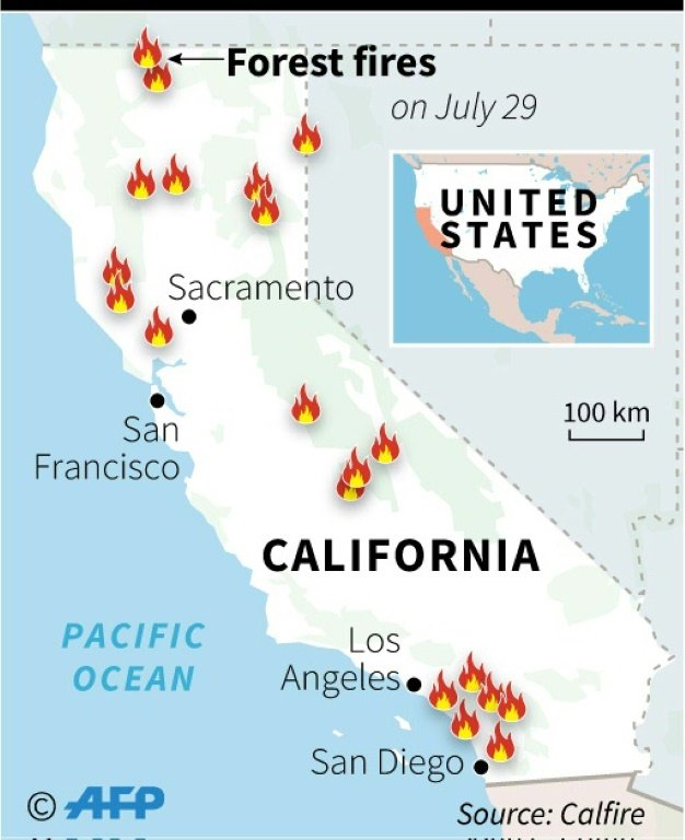 Fire Map California July 2018.Erratic Winds Dry Conditions Fuel Deadly California Fires