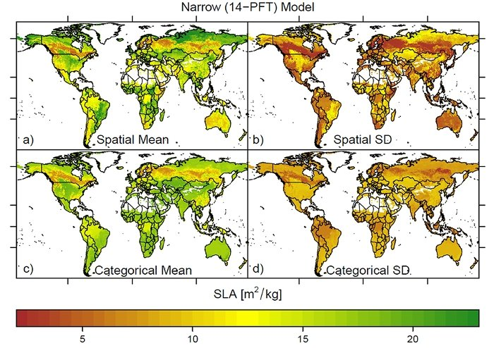 ecological maps show a wider range of functional diversity