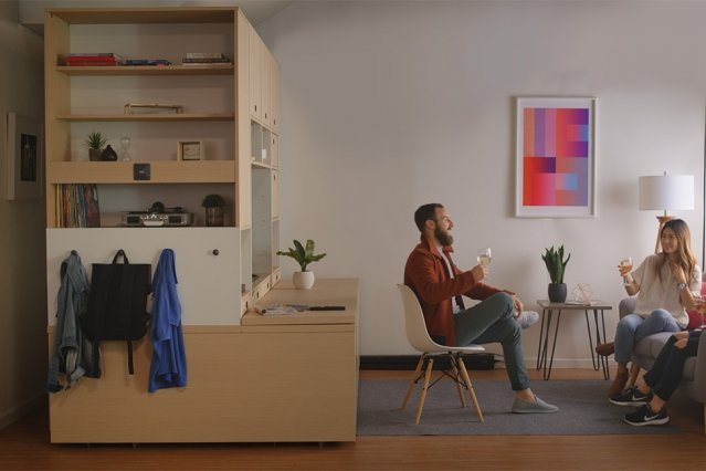 Smart Furniture Transforms Spaces In Tiny Apartments Into Bedrooms, Work  Spaces, Or Closets