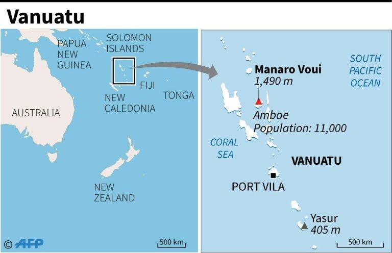 Vanuatu island to evacuate again as volcano erupts map of vanuatu locating the manaro voui volcano gumiabroncs Images