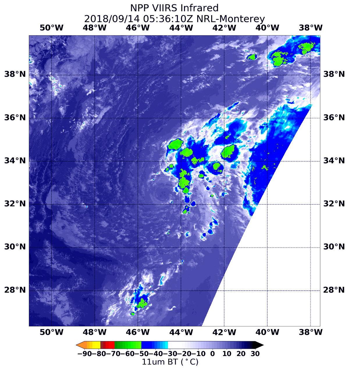 Wind Shear Affecting Tropical Storm Joyce In Nasa Noaa Satellite Image