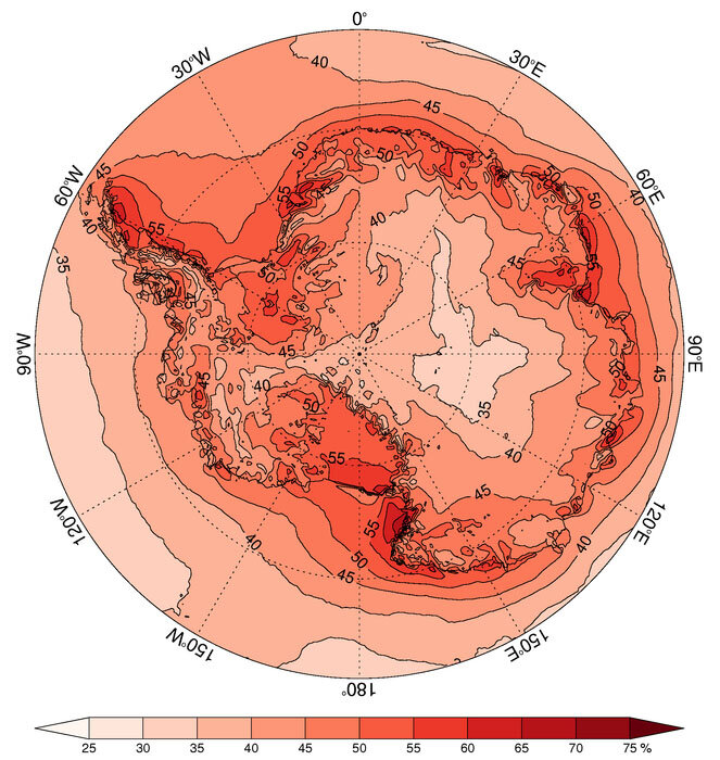 Antarctic snowfall dominated by a few extreme snowstorms