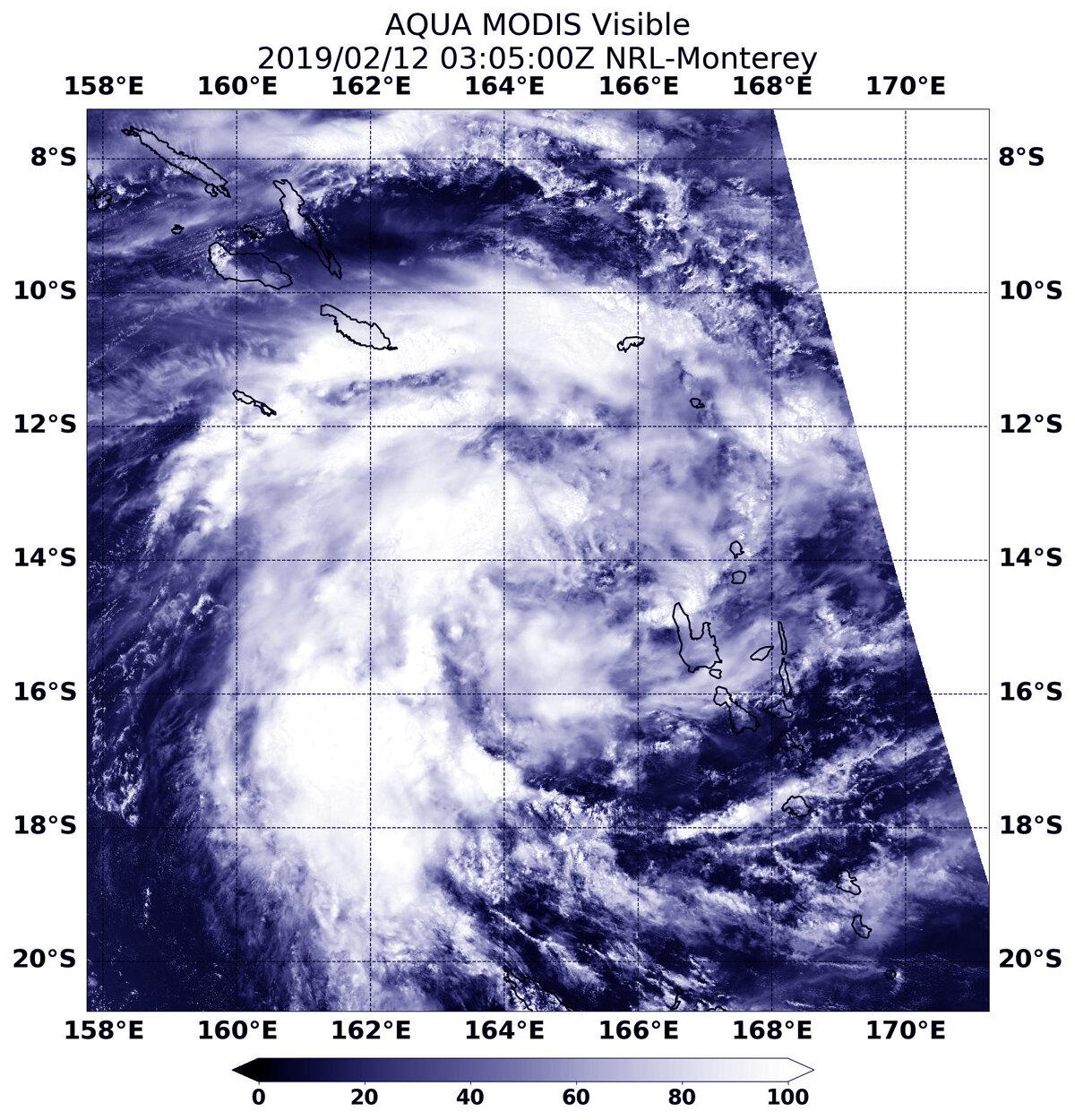 Aqua satellite catches development of Tropical Cyclone Oma