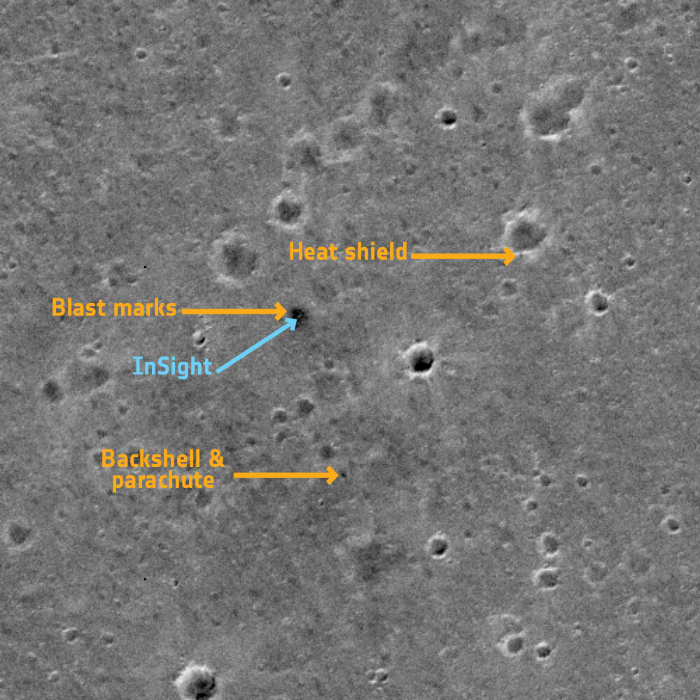 InSight lander among latest ExoMars image bounty