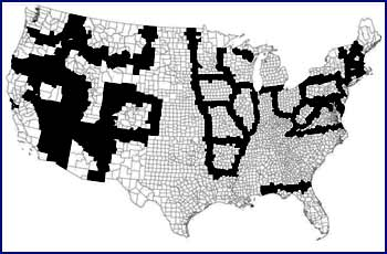 The Black Areas On The Map Above Reflect The Locations Of Contiguous Border Pairs Of Counties In The United States That Reported A Minimum Wage Differential