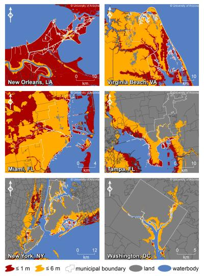 seas will affect major US coastal cities by 2100