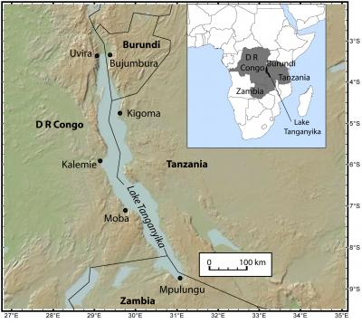 Lake Tanganyika On A Map Of Africa.Geologists Show Unprecedented Warming In Lake Tanganyika