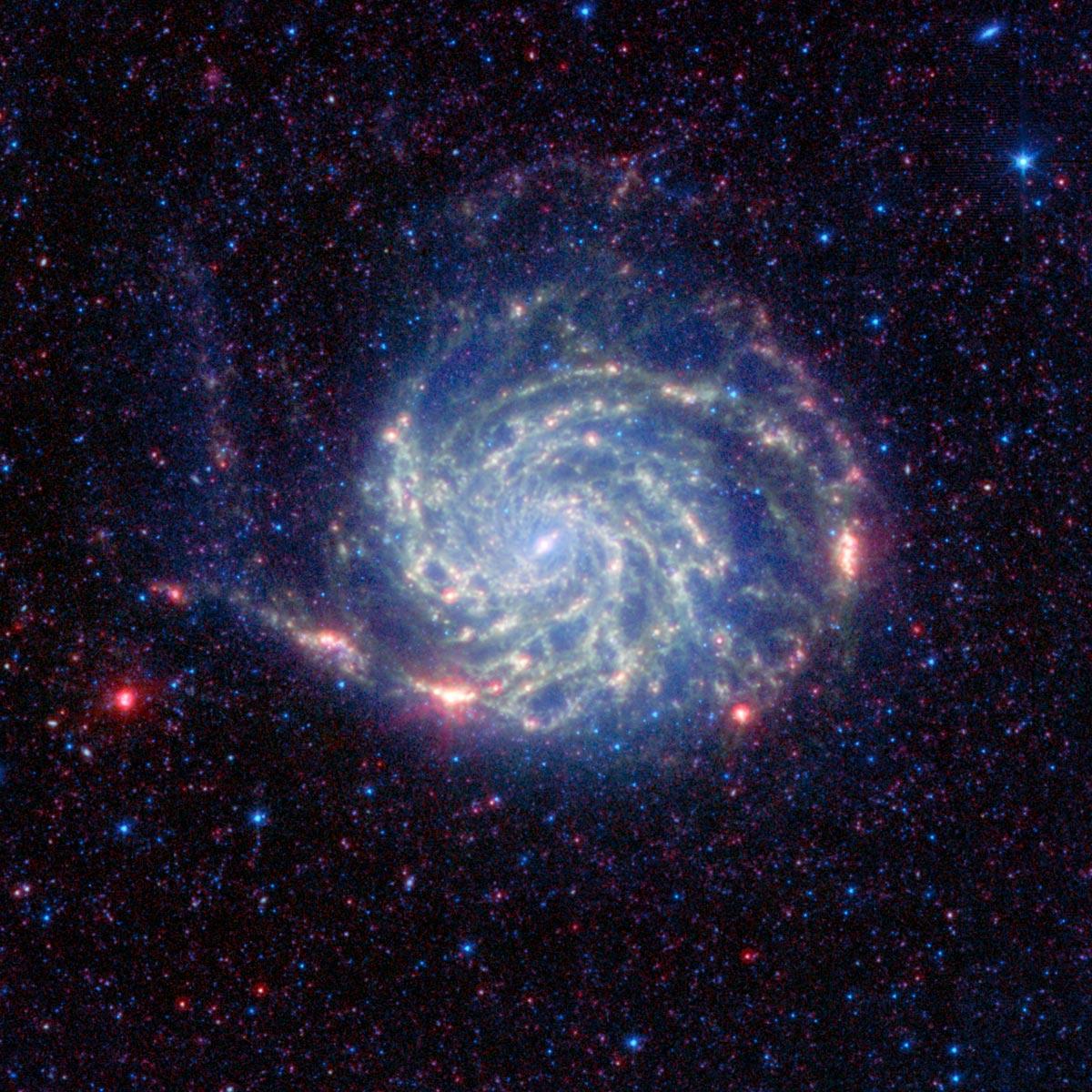 Spitzer reveals 39 no organics 39 zone around pinwheel galaxy - Spitzer space telescope wallpaper ...