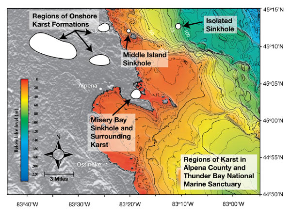 Lakes Sinkholes Host Exotic Ecosystems - Sinkhole map of us
