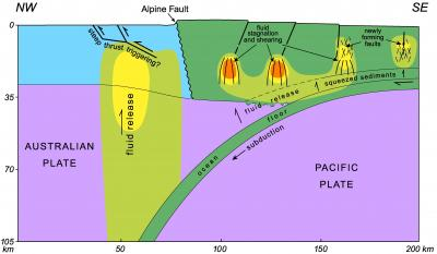 Shaking The Earth How Water Helps Tectonic Plates Slide In New Zealand Rh Phys Org Plate Tectonics Diagram Map