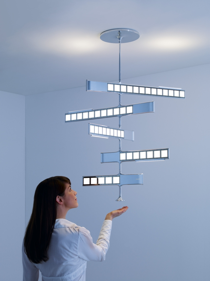 For Homes Philips Is Presenting Four Different Concepts Standing Wall Mounted Desk Top And Ceiling Luminaires