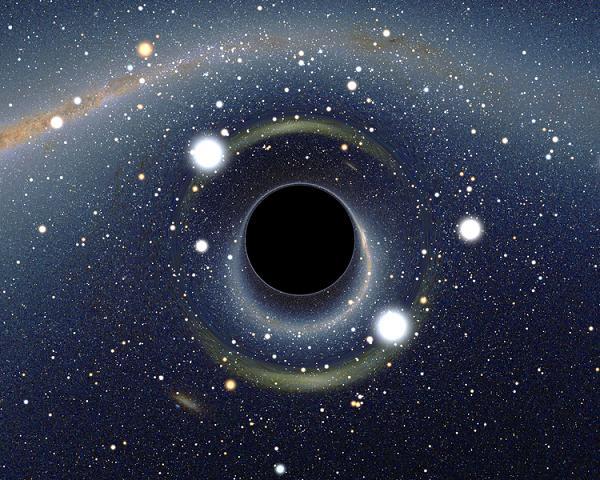 Le trou noir supermassif au centre de la galaxie  Blackholelmc