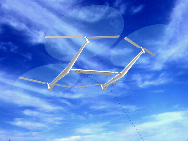 Kites flying in high-altitude winds could provide clean electricity