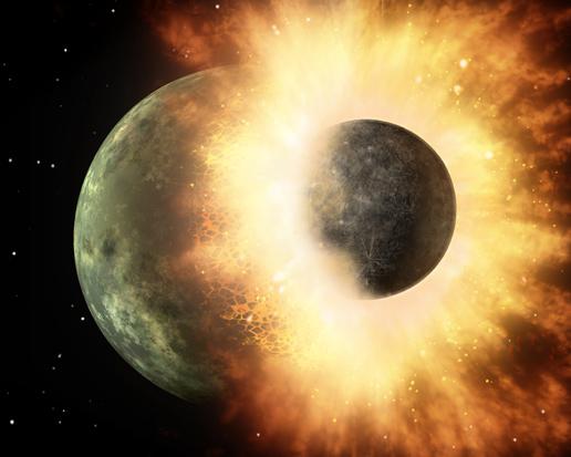 Planet Smash-Up Sends Vaporized Rock, Hot Lava Flying (w/ Video)