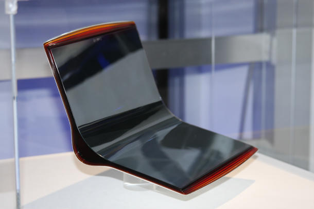 thin flexible OLED from Sony