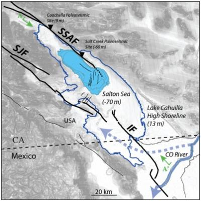 Scientists Focus On Salton Sea As Possible Earthquake Risk - Salton sea on us map