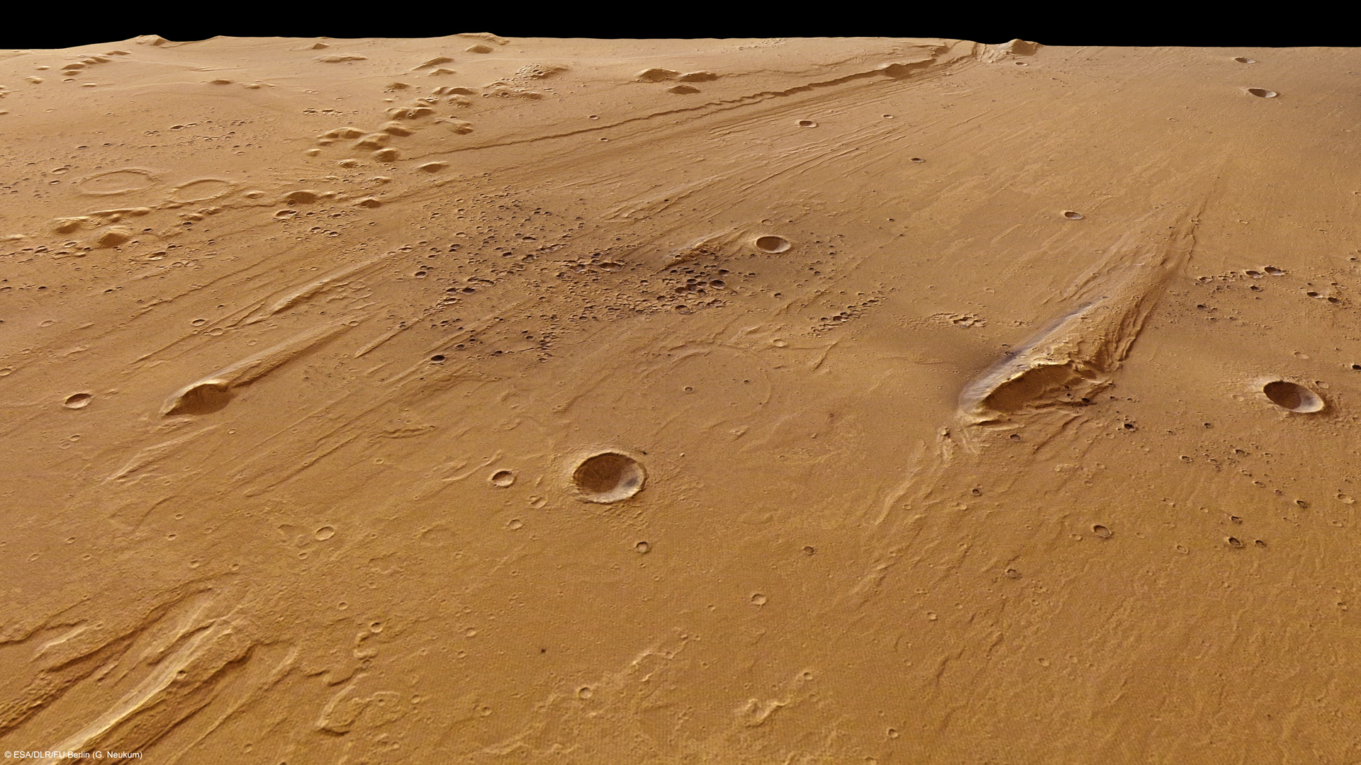 Mars Express Observes Clusters Of Recent Craters In Ares