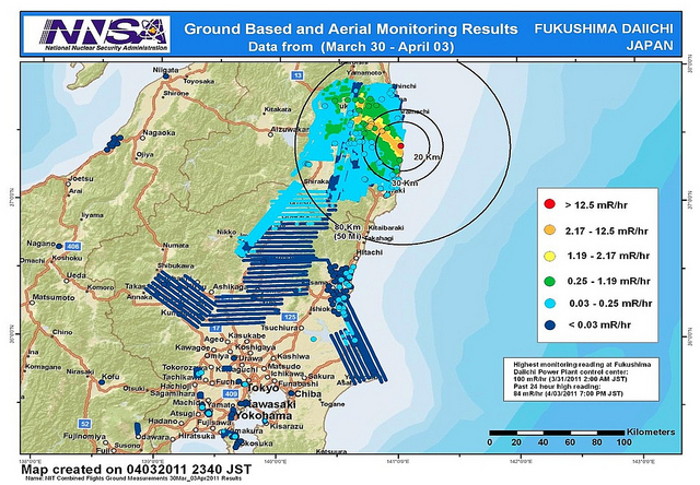 Team Helps Map Fukushima Radiation Release - Fukushima radiation 2016 us map
