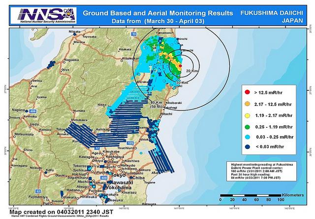 Team Helps Map Fukushima Radiation Release - Japan radiation map 2016