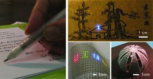 Researchers create rollerball-pen ink to draw circuits