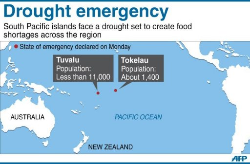 Second Pacific Island Declares Drought Emergency - Tokelau map