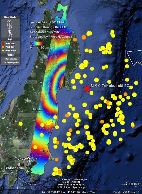 Earth movements from japan earthquake seen from space gumiabroncs Gallery