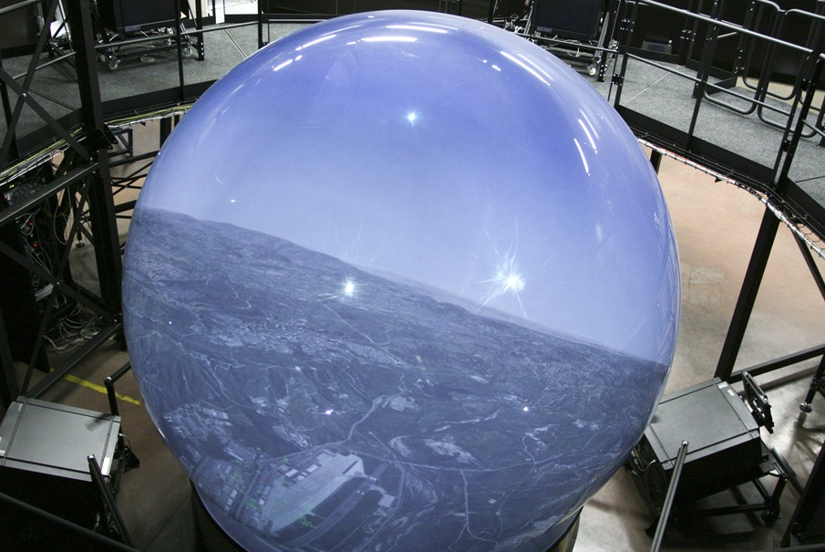 Fighter Jet Training Dome Shows 360 Degree View