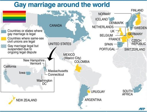 Top homosexual countries