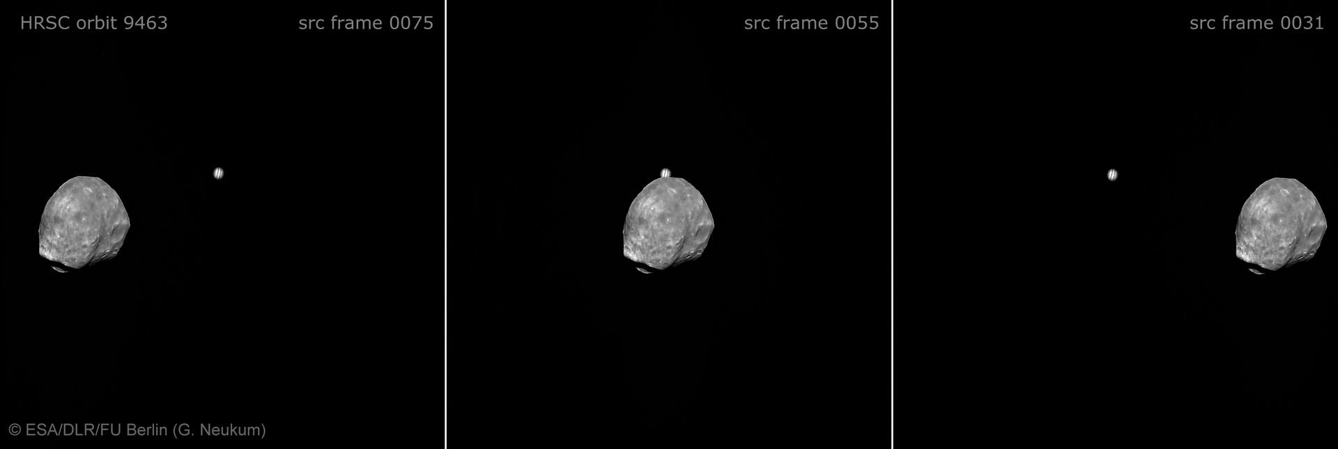 Phobos slips past Jupiter (w/ video)