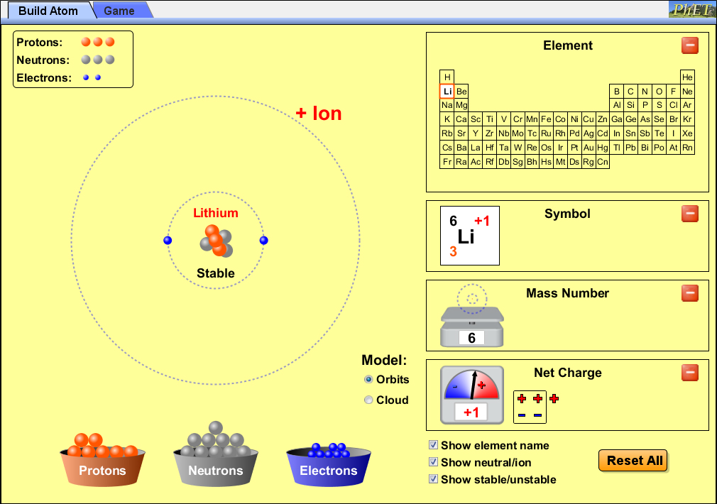 PhET simulations provide interactive learning tools