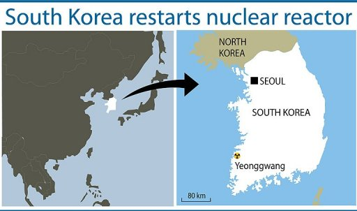 s korea restarts troubled nuclear reactor