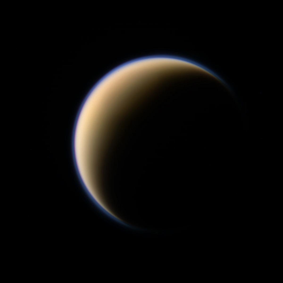 Titan shines in latest Cassini shots