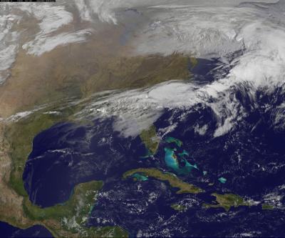 Satellite Movie Shows Movement Of Tornadic Weather System - World satellite view of weather