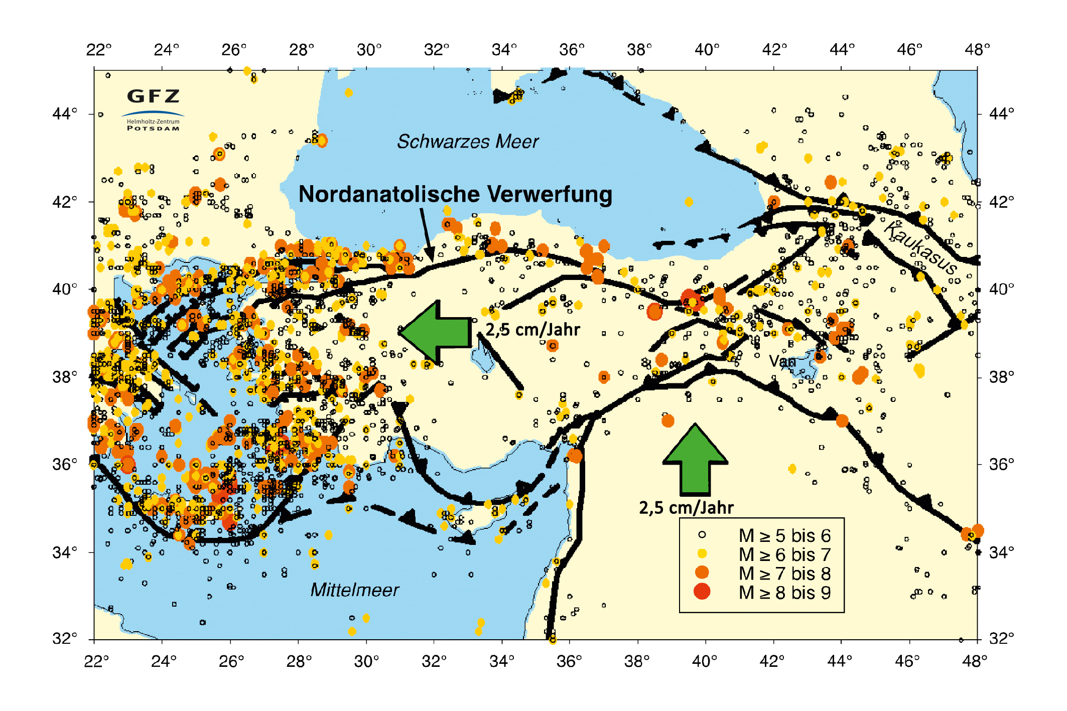 Istanbulthe earthquake risk of a megacity seismic risk in turkey epicentres and main fault zones gfz deutsches geoforschungszentrum gumiabroncs Choice Image