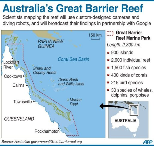 scientists mapping australias great barrier reef will use custom designed cameras and diving robots to reach never before seen depths and will broadcast