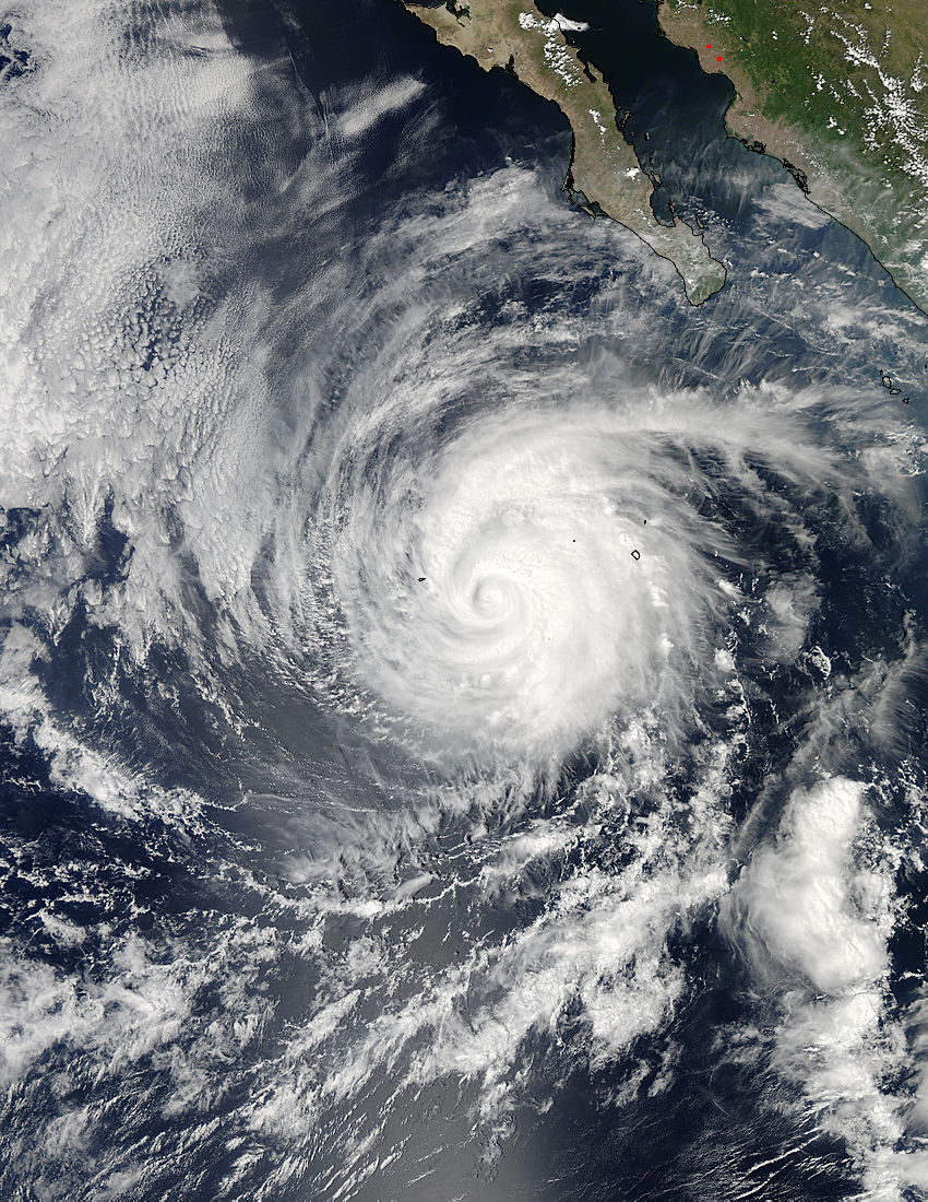 category 2 hurricane miriam seen in east pacific by nasa. Black Bedroom Furniture Sets. Home Design Ideas