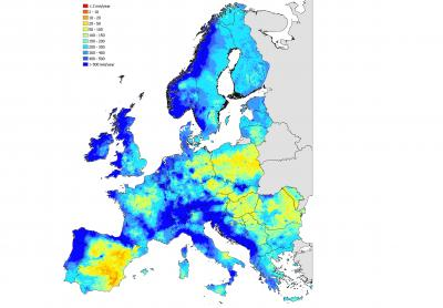 Resources Map Of Europe.Current Water Resources In Europe And Africa