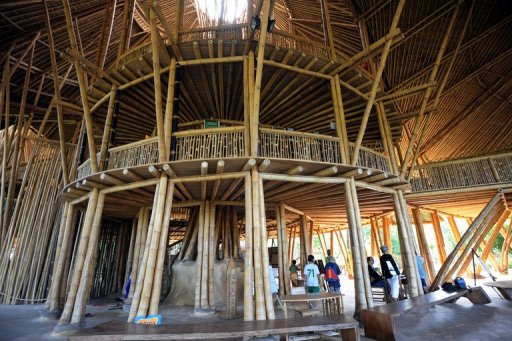 Bali Goes Green With Bamboo Buildings