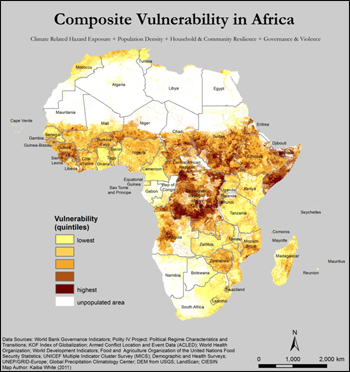 The Future Of Climate Change In Africa - Africa climate map