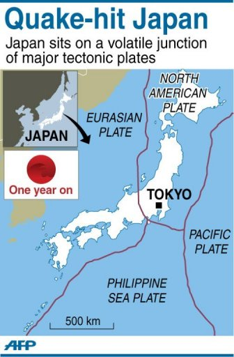 Scientists Survey Seabed Fractured By Japan Quake - Japan map activity