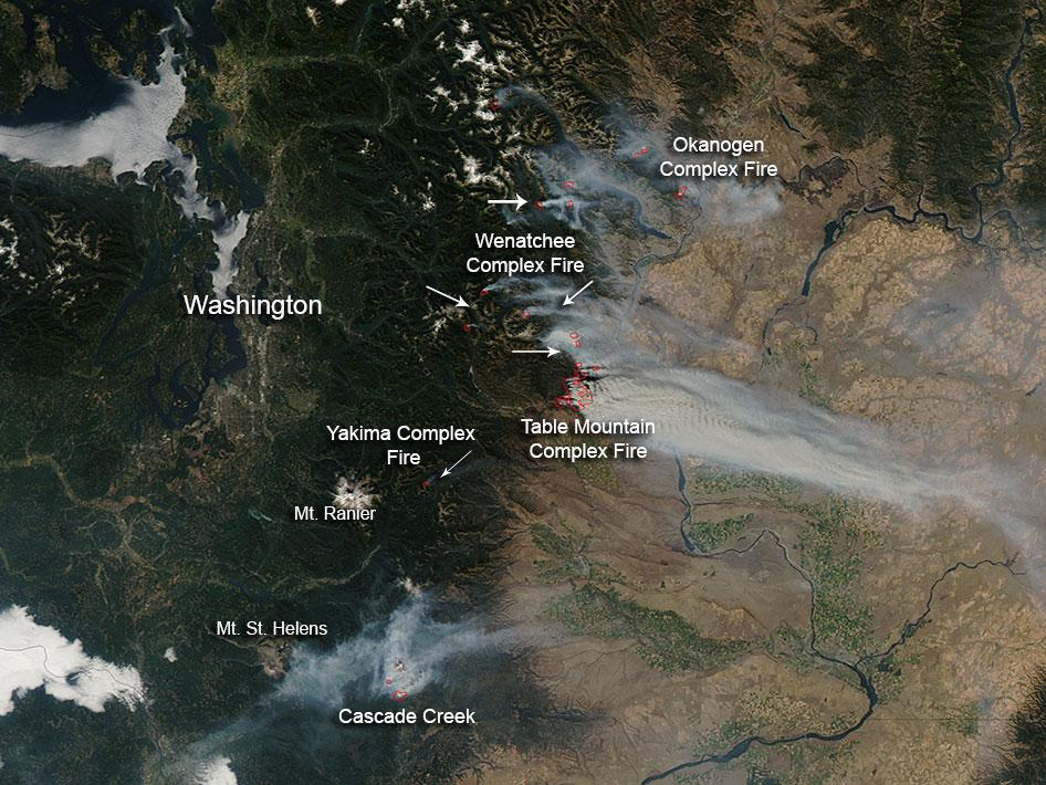 Image Wildfires In Washington State