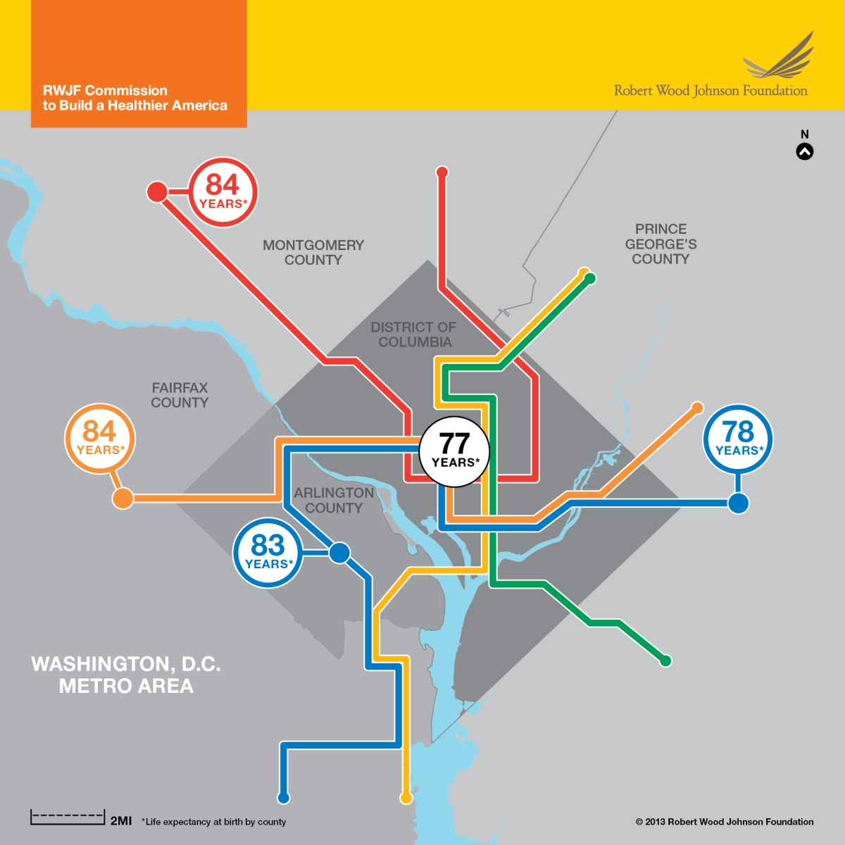A Matter Of Miles New Maps To Show Differences In Life Expectancy - Washington dc map by neighborhood