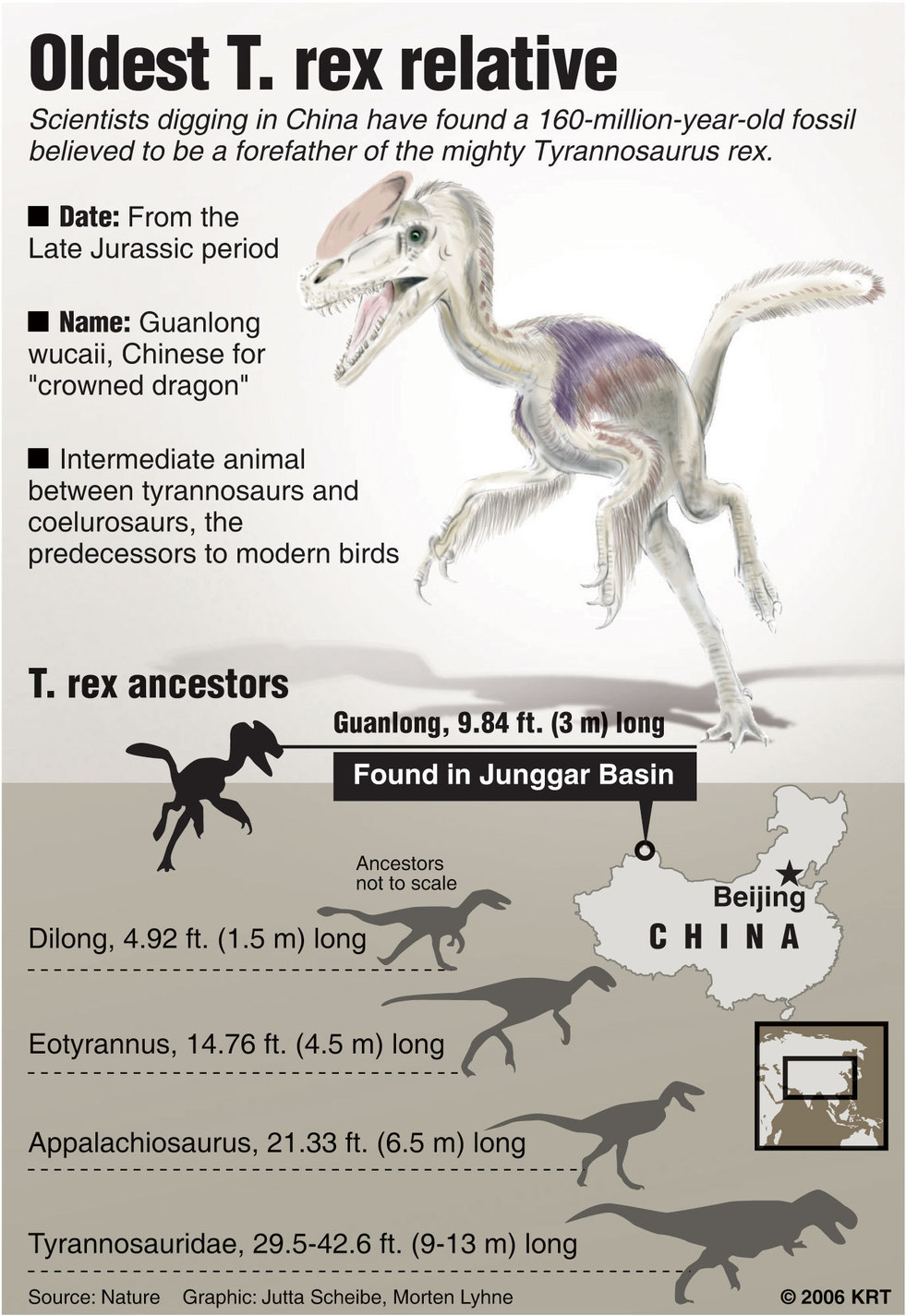 Australians first in line to see ancestor that links for T rex family