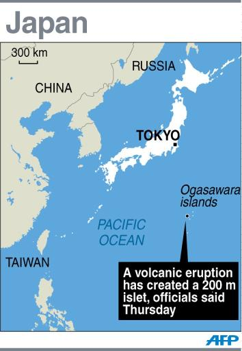 Volcano Raises New Island Far South Of Japan - Japan map volcanoes